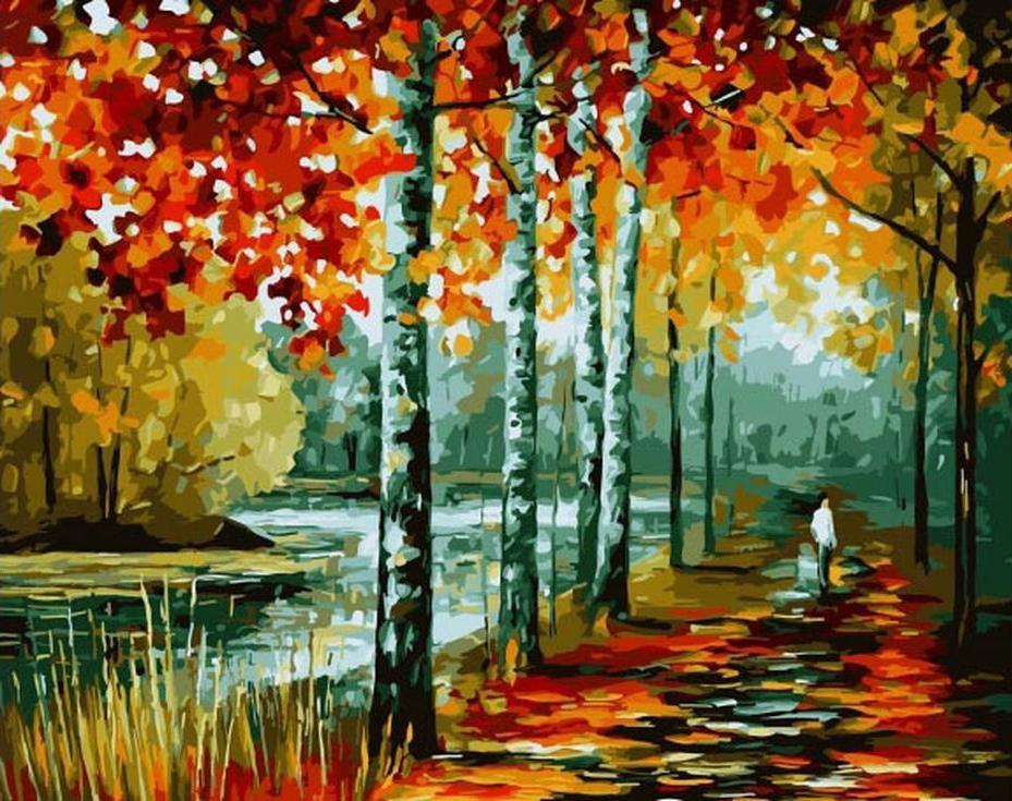 Картина по номерам «У озера» Леонида АфремоваPaintboy (Premium)<br><br><br>Артикул: GX3953<br>Основа: Холст<br>Сложность: сложные<br>Размер: 40x50 см<br>Количество цветов: 24<br>Техника рисования: Без смешивания красок