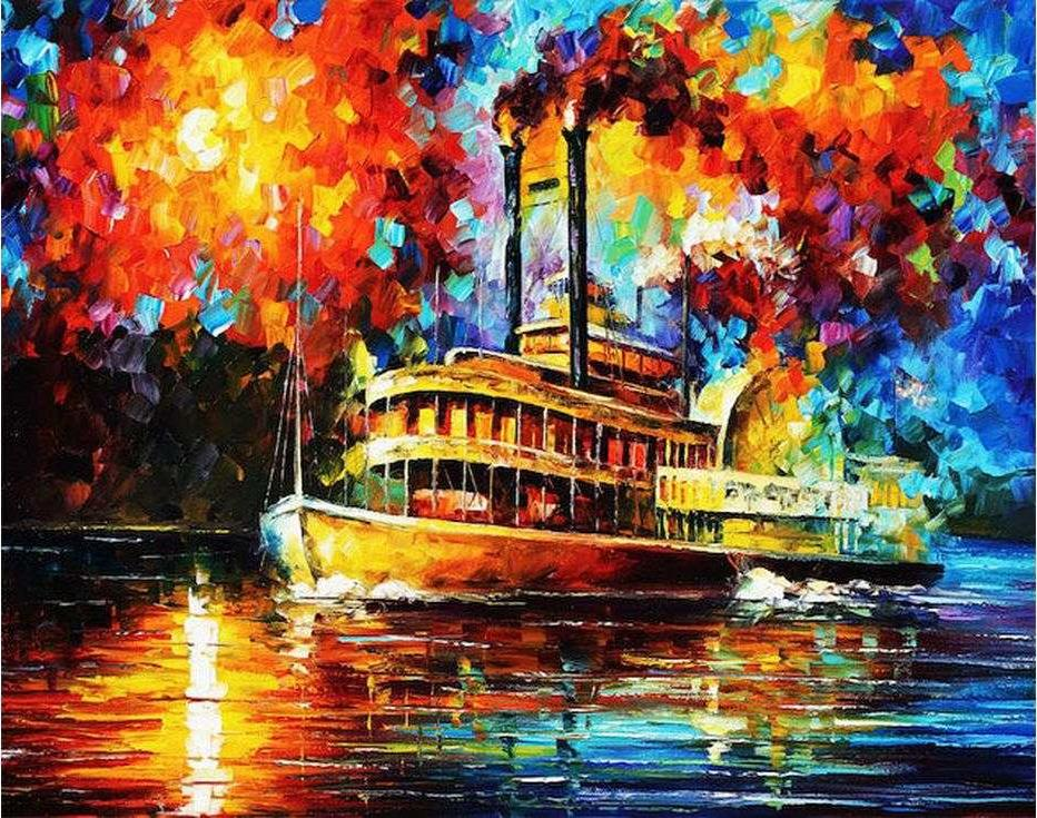 Картина по номерам «Паром» Леонида АфремоваРаскраски по номерам Paintboy (Original)<br><br>