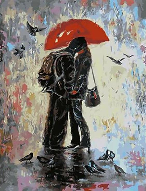 Картина по номерам «Музыка дождя» Вики ВадPaintboy (Premium)<br><br><br>Артикул: GX4099<br>Основа: Холст<br>Сложность: сложные<br>Размер: 40x50 см<br>Количество цветов: 23<br>Техника рисования: Без смешивания красок