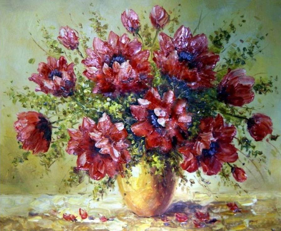 «Букет» Антонио ДжанильяттиPaintboy (Premium)<br><br><br>Артикул: GX4205<br>Основа: Холст<br>Сложность: сложные<br>Размер: 40x50 см<br>Количество цветов: 24<br>Техника рисования: Без смешивания красок