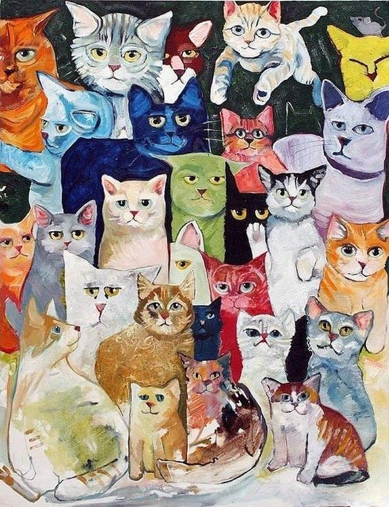 Картина по номерам «Кошачий коллаж»Paintboy (Premium)<br><br>