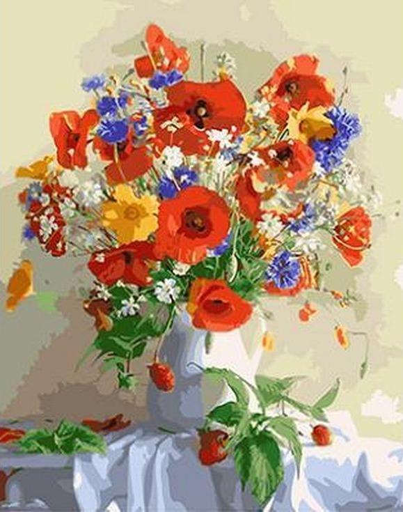 «Букет цветов» Луизы ГельтсPaintboy (Premium)<br><br><br>Артикул: GX4435<br>Основа: Холст<br>Сложность: сложные<br>Размер: 40x50 см<br>Количество цветов: 25<br>Техника рисования: Без смешивания красок