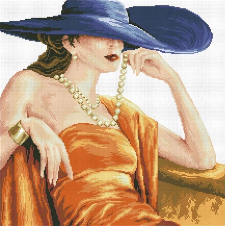 Алмазная вышивка «Прекрасная леди»Алмазная вышивка Паутинка<br><br>
