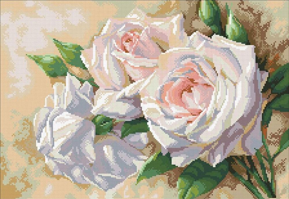 Стразы «Античные розы»Алмазная вышивка Паутинка<br><br><br>Артикул: М-202<br>Основа: Холст без подрамника<br>Сложность: сложные<br>Размер: 52x36 см<br>Выкладка: Полная<br>Количество цветов: 30<br>Тип страз: Квадратные