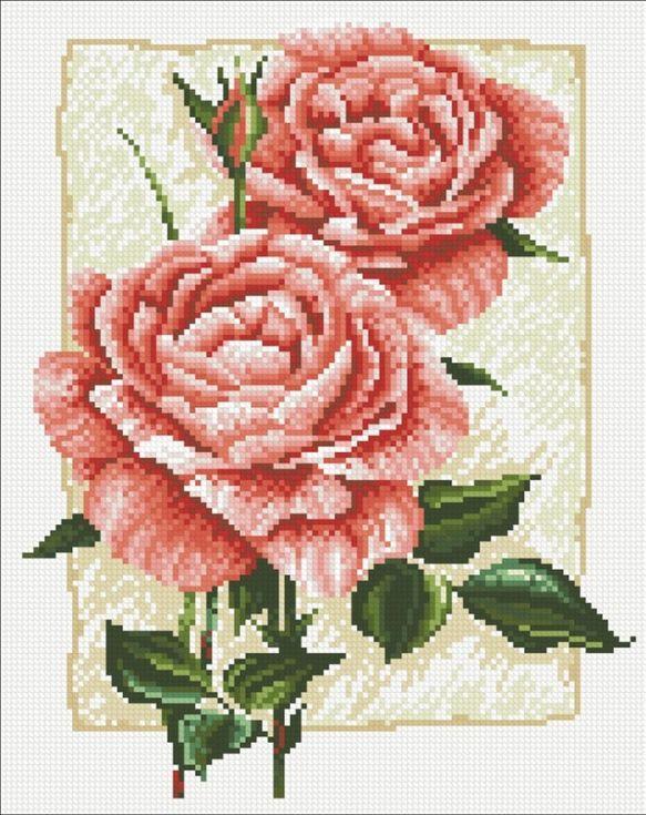 Стразы «Садовая роза»Алмазная вышивка Паутинка<br><br><br>Артикул: М-224<br>Основа: Холст без подрамника<br>Сложность: средние<br>Размер: 27x34 см<br>Выкладка: Полная<br>Количество цветов: 19<br>Тип страз: Квадратные