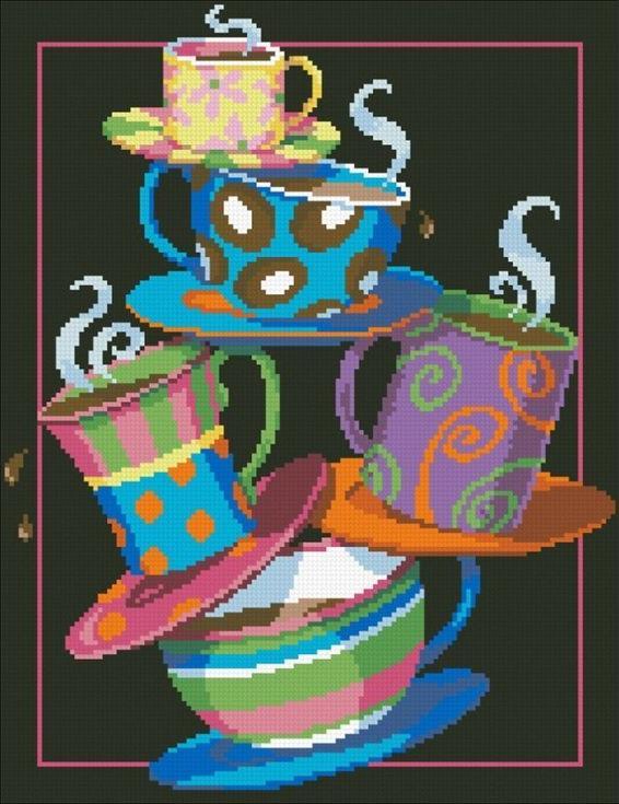 Алмазная вышивка «Кофе, чай!»Алмазная вышивка Паутинка<br><br><br>Артикул: М-228<br>Основа: Холст без подрамника<br>Сложность: сложные<br>Размер: 31x40 см<br>Выкладка: Полная<br>Количество цветов: 25<br>Тип страз: Квадратные