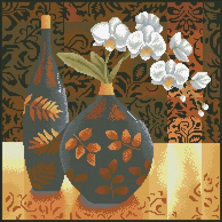 Стразы «Натюрморт с орхидеей»Алмазная вышивка Паутинка<br><br><br>Артикул: М-230<br>Основа: Холст без подрамника<br>Сложность: сложные<br>Размер: 45x45 см<br>Выкладка: Полная<br>Количество цветов: 21<br>Тип страз: Квадратные