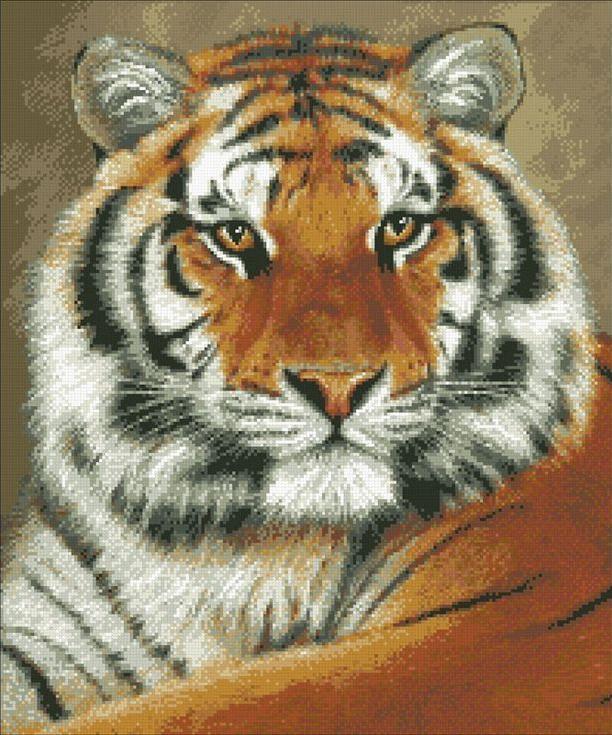 Стразы «Тигр»Алмазная вышивка Паутинка<br><br><br>Артикул: М-305<br>Основа: Холст без подрамника<br>Сложность: сложные<br>Размер: 55x46 см<br>Выкладка: Полная<br>Количество цветов: 22<br>Тип страз: Квадратные