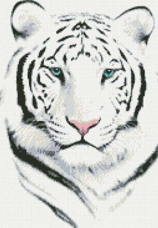 Стразы «Белый тигр»Алмазная вышивка Паутинка<br><br><br>Артикул: М-306<br>Основа: Холст без подрамника<br>Сложность: сложные<br>Размер: 43x30 см<br>Выкладка: Полная<br>Количество цветов: 12<br>Тип страз: Квадратные