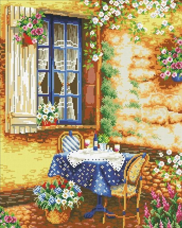 Стразы «Солнечный день»Алмазная вышивка Паутинка<br><br><br>Артикул: М-432<br>Основа: Холст без подрамника<br>Сложность: сложные<br>Размер: 40x50 см<br>Выкладка: Полная<br>Количество цветов: 37<br>Тип страз: Квадратные