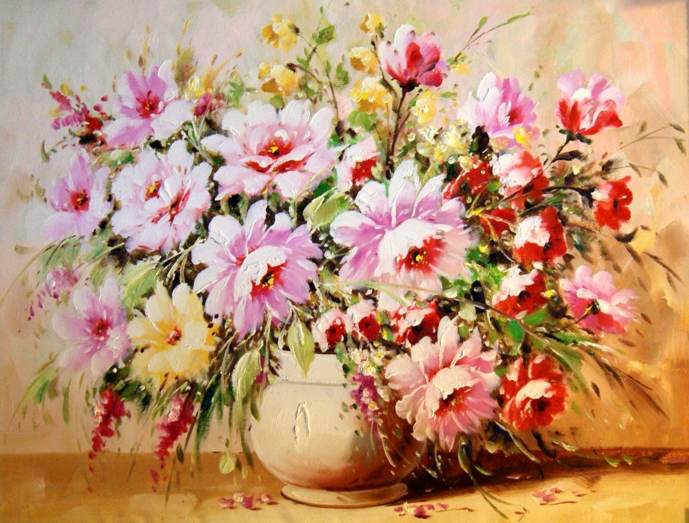 «Букет роз» Антонио ДжанильяттиЦветной (Premium)<br><br><br>Артикул: MG6669_Z<br>Основа: Холст<br>Сложность: сложные<br>Размер: 40x50 см<br>Количество цветов: 23<br>Техника рисования: Без смешивания красок