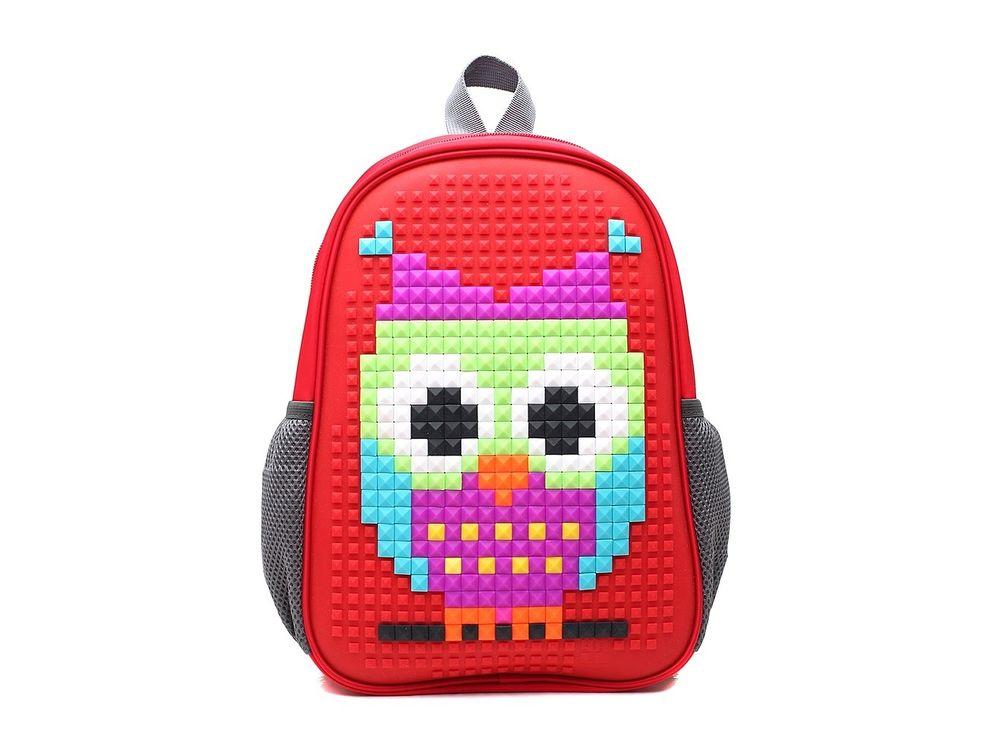 Рюкзак 4ALL Case Mini с битами, красныйПиксельные рюкзаки<br><br><br>Артикул: RC61-01N<br>Вес: 450 г<br>Размер готовой модели: 24x12x35 см<br>Цвет: Красный<br>Серия: 4ALL Case Mini<br>Материал: Полиэстер/силикон<br>Объем: 16 л<br>Возраст: от 3 лет<br>Размер битов: Большие<br>Цвета битов на выбор: 16 цветов<br>Цвета силиконовой панели на выбор: 4 цвета