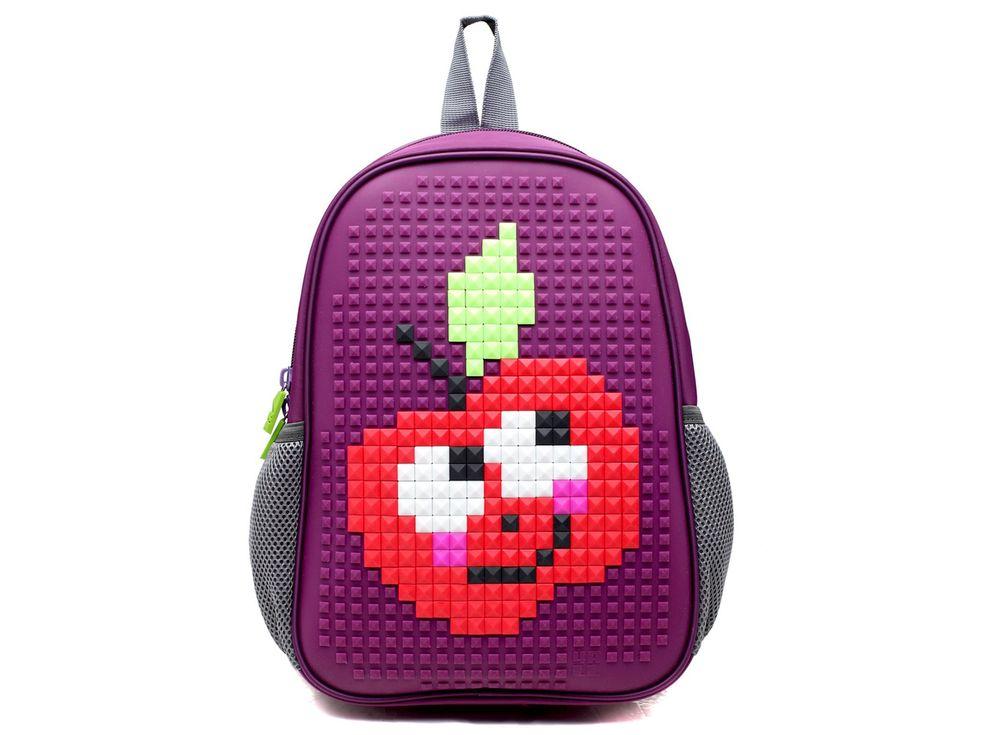 Рюкзак 4ALL Case Mini с битами, серыйПиксельные рюкзаки<br><br><br>Артикул: RC61-05N<br>Вес: 450 г<br>Размер готовой модели: 24x12x35 см<br>Цвет: Фиолетовый<br>Серия: 4ALL Case Mini<br>Материал: Полиэстер/силикон<br>Объем: 16 л<br>Возраст: от 3 лет<br>Размер битов: Большие<br>Цвета битов на выбор: 16 цветов<br>Цвета силиконовой панели на выбор: 4 цвета