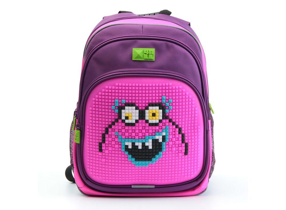 Рюкзак 4ALL Kids с битами, фиолетово-розовыйПиксельные рюкзаки<br><br><br>Артикул: RK61-01N<br>Вес: 950 г<br>Размер готовой модели: 27x17x39 см<br>Цвет: Фиолетово-розовый<br>Серия: 4ALL Kids<br>Материал: Полиэстер/силикон<br>Объем: 19 л<br>Возраст: от 6 лет<br>Размер битов: Маленькие<br>Цвета битов на выбор: 25 цветов<br>Цвета силиконовой панели на выбор: 7 цветов