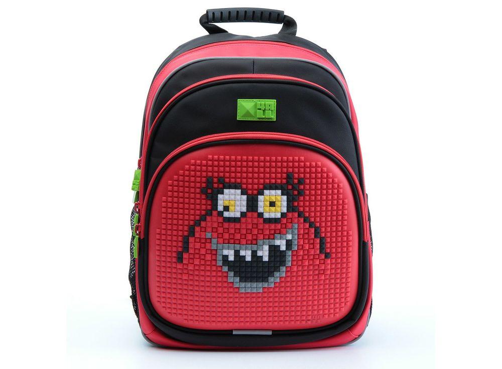 Рюкзак 4ALL Kids с битами, черно-красныйПиксельные рюкзаки<br><br><br>Артикул: RK61-06N<br>Вес: 950 г<br>Размер готовой модели: 27x17x39 см<br>Цвет: Черно-красный<br>Серия: 4ALL Kids<br>Материал: Полиэстер/силикон<br>Объем: 19 л<br>Возраст: от 6 лет<br>Размер битов: Маленькие<br>Цвета битов на выбор: 25 цветов<br>Цвета силиконовой панели на выбор: 7 цветов