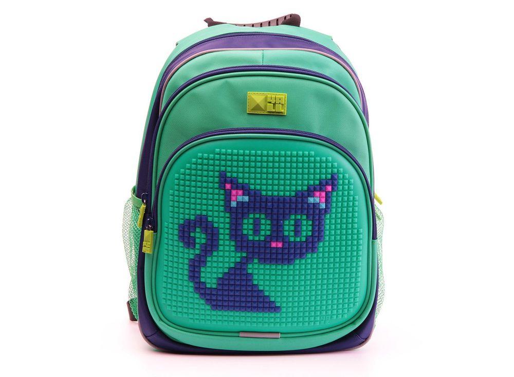 Рюкзак 4ALL Kids с битами, зелено-синийПиксельные рюкзаки<br><br><br>Артикул: RK61-08N<br>Вес: 950 г<br>Размер готовой модели: 27x17x39 см<br>Цвет: Зелено-синий<br>Серия: 4ALL Kids<br>Материал: Полиэстер/силикон<br>Объем: 19 л<br>Возраст: от 6 лет<br>Размер битов: Маленькие<br>Цвета битов на выбор: 25 цветов<br>Цвета силиконовой панели на выбор: 7 цветов