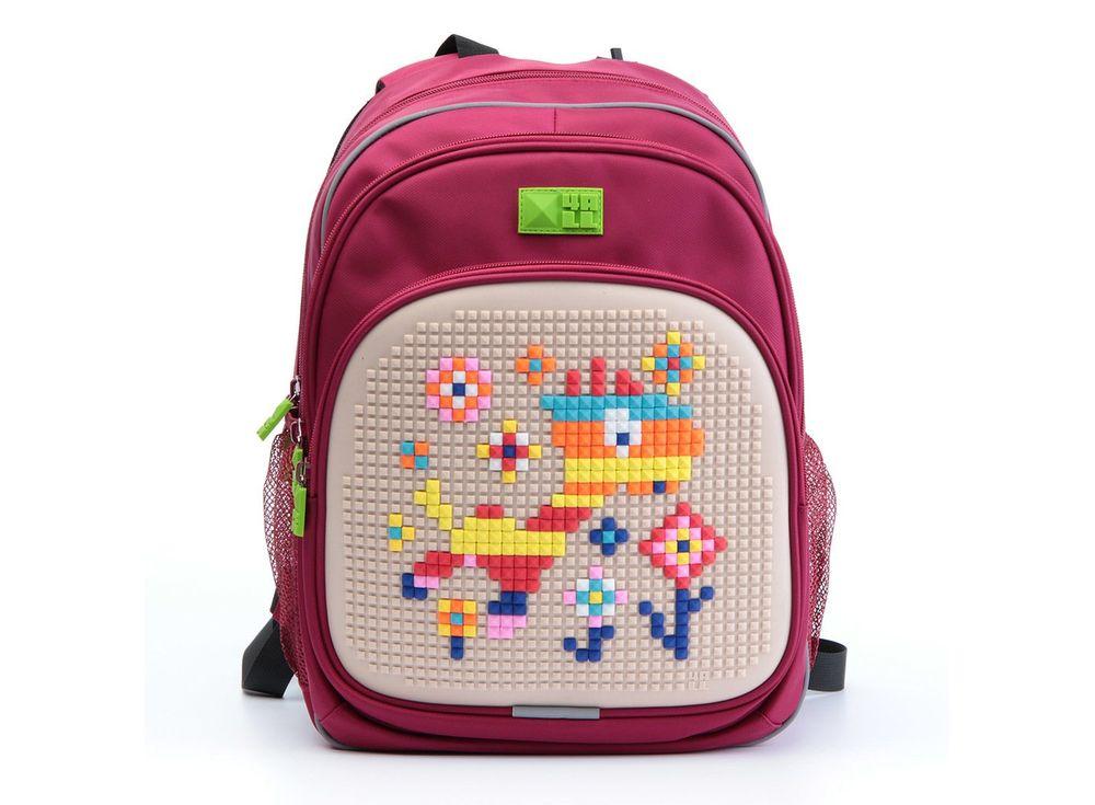 Рюкзак 4ALL Kids с битами, красно-бежевыйПиксельные рюкзаки<br><br><br>Артикул: RK61-12N<br>Вес: 950 г<br>Размер готовой модели: 27x17x39 см<br>Цвет: Красно-бежевый<br>Серия: 4ALL Kids<br>Материал: Полиэстер/силикон<br>Объем: 19 л<br>Возраст: от 6 лет<br>Размер битов: Маленькие<br>Цвета битов на выбор: 25 цветов<br>Цвета силиконовой панели на выбор: 7 цветов