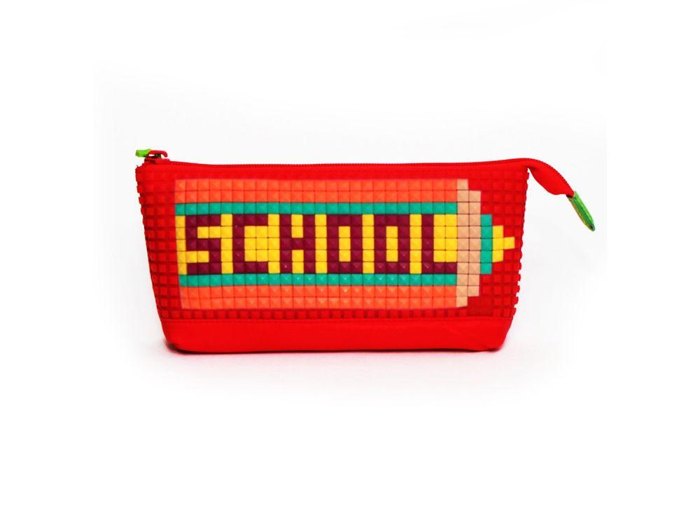 Пенал 4ALL Kids с битами, красныйПиксельные рюкзаки<br><br><br>Артикул: RP61-01N<br>Вес: 150 г<br>Размер готовой модели: 24x4x11 см<br>Цвет: Красный<br>Серия: 4ALL Kids<br>Материал: Полиэстер/силикон<br>Возраст: от 3 лет<br>Размер битов: Маленькие<br>Цвета битов на выбор: 25 цветов<br>Цвета силиконовой панели на выбор: 5 цветов