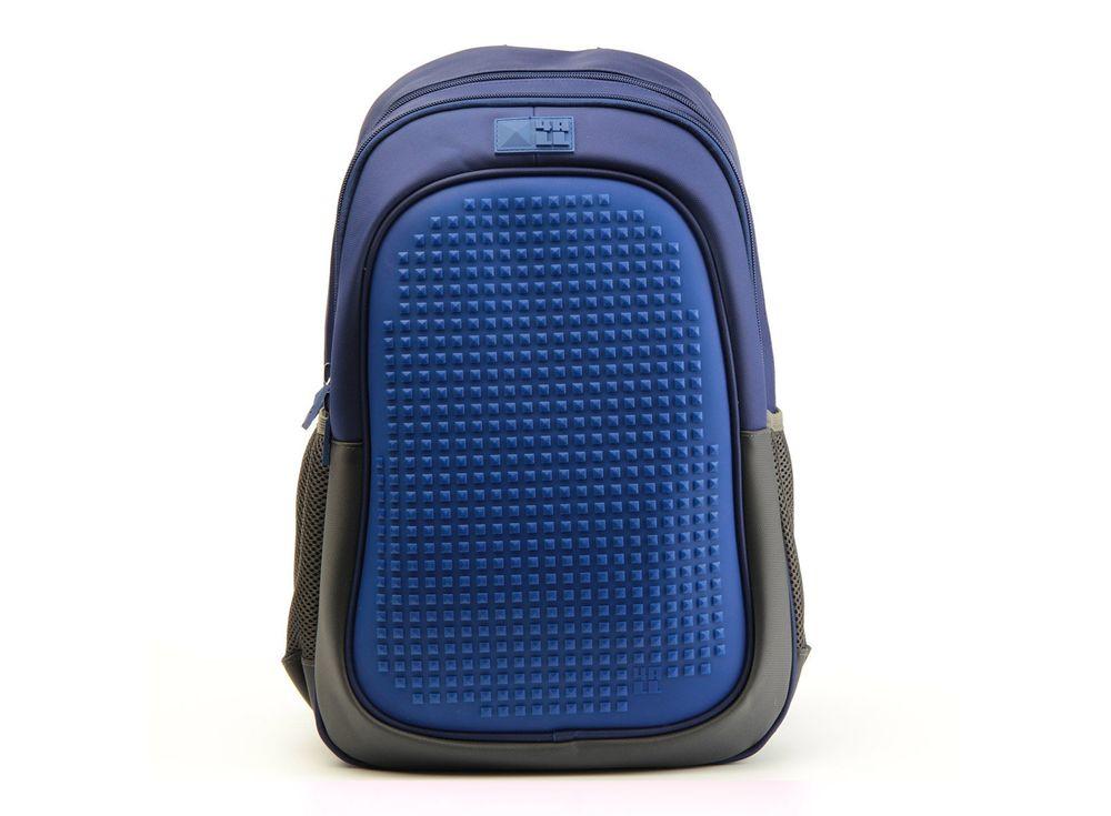 Рюкзак 4ALL Case с битами, синийПиксельные рюкзаки<br><br><br>Артикул: RT63-01N<br>Вес: 700 г<br>Размер готовой модели: 29x19x41 см<br>Цвет: Синий<br>Серия: 4ALL Case<br>Материал: Полиэстер/силикон<br>Объем: 19 л<br>Возраст: от 10 лет<br>Размер битов: Большие<br>Цвета битов на выбор: 16 цветов<br>Цвета силиконовой панели на выбор: 3 цвета