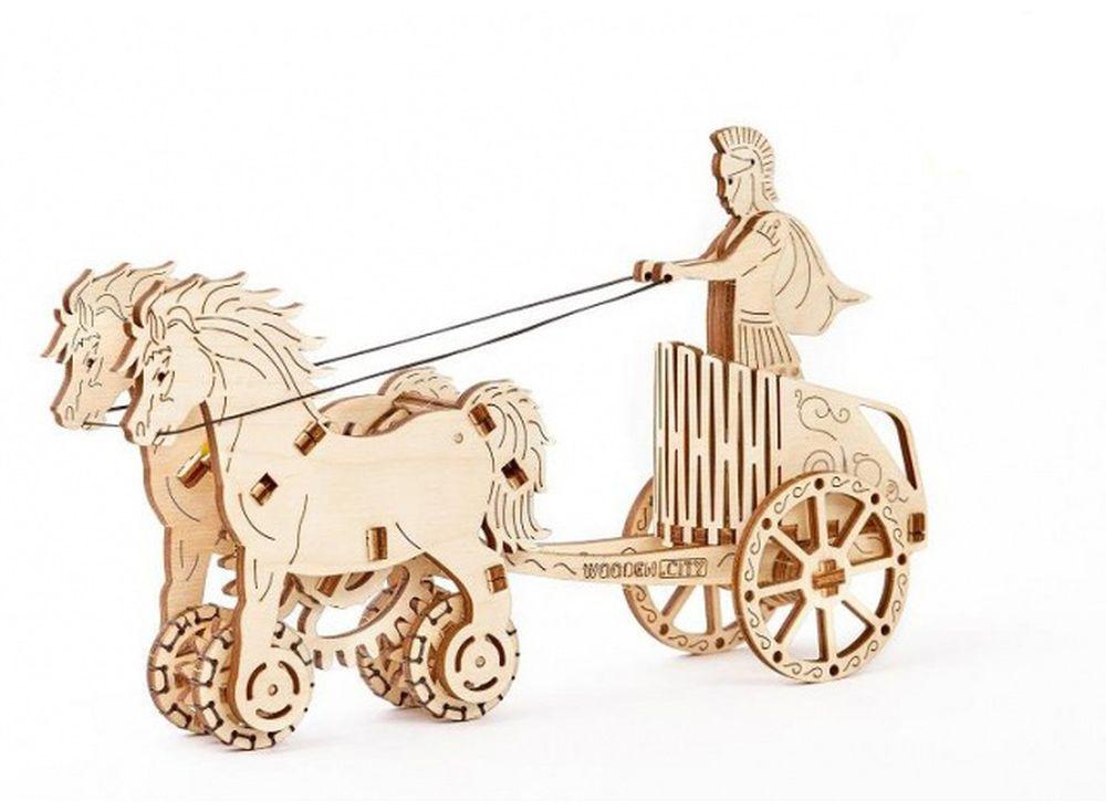3D-пазл Wooden.City «Римская колесница»3D-пазлы конструкторы Wooden.City<br>Сборные пазлы от польского производителя Wooden.City выполнены из высококачественной березовой фанеры по авторским чертежам, максимально точно выверены и для их сборки требуется лишь желание и немного терпения. Механические 3D-модели Вуденсити - это изящн...<br><br>Артикул: WR301<br>Вес: 300 г<br>Размер готовой модели: 22x5,5x13 см<br>Расчетное время сборки: 2-3 часа<br>Материал: Березовая фанера<br>Размер упаковки: 24x17,5x2,8 см<br>Возраст: от 14 лет