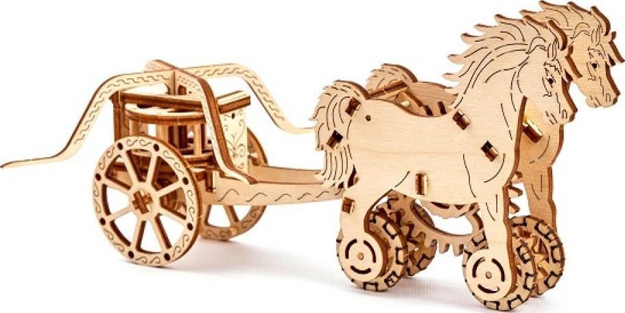 3D-пазл Wooden.City «Колесница Да Винчи»3D-пазлы конструкторы Wooden.City<br>Сборные пазлы от польского производителя Wooden.City выполнены из высококачественной березовой фанеры по авторским чертежам, максимально точно выверены и для их сборки требуется лишь желание и немного терпения. Механические 3D-модели Вуденсити - это изящн...<br><br>Артикул: WR302<br>Вес: 300 г<br>Размер готовой модели: 23x10,7x10,4 см<br>Расчетное время сборки: 2-3 часа<br>Материал: Березовая фанера<br>Размер упаковки: 24x17,5x2,8 см<br>Возраст: от 14 лет