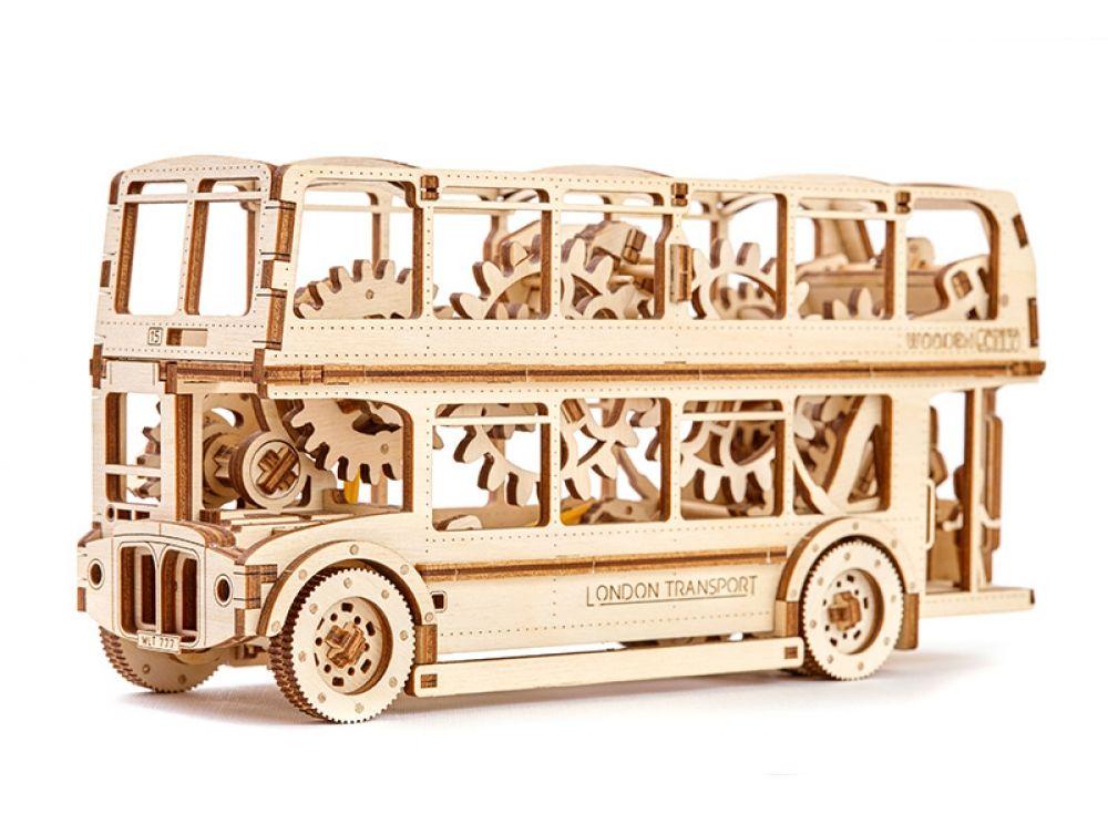 3D-пазл Wooden.City «Лондонский автобус»3D-пазлы конструкторы Wooden.City<br>Сборные пазлы от польского производителя Wooden.City выполнены из высококачественной березовой фанеры по авторским чертежам, максимально точно выверены и для их сборки требуется лишь желание и немного терпения. Механические 3D-модели Вуденсити - это изящн...<br><br>Артикул: WR303<br>Размер готовой модели: 23,2x7x11,5 см<br>Расчетное время сборки: 6 часов<br>Материал: Березовая фанера<br>Размер упаковки: 35,5x24x4 см<br>Возраст: от 14 лет