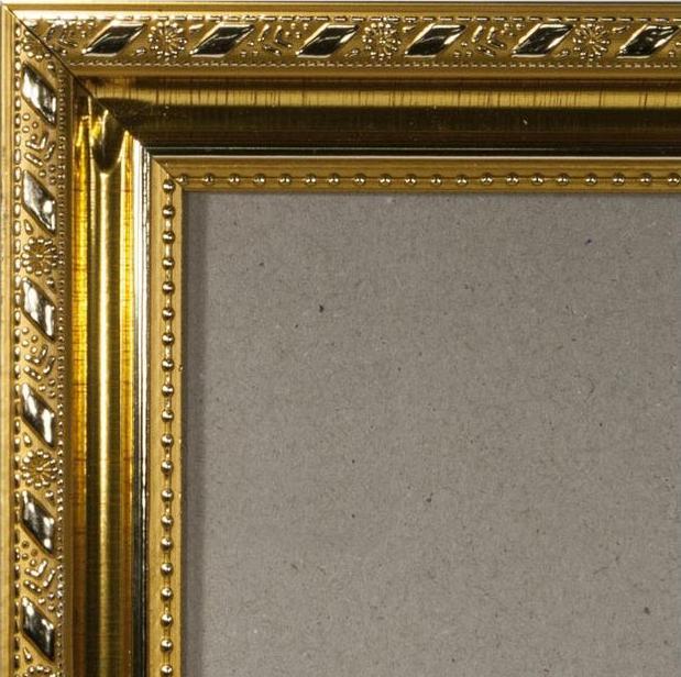 Рамка без стекла для картин «Mark»Багетные рамки<br><br><br>Артикул: g3848/36<br>Размер: 38x48 см<br>Цвет: Золото<br>Ширина: 35 мм<br>Материал багета: Пластик