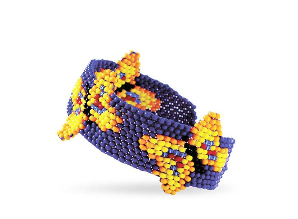 Набор для бисероплетения «Браслет Мотылек»Бисероплетение Кроше<br><br><br>Артикул: А-087<br>Техника вышивки: бисероплетение<br>Тип схемы вышивки: Цветная схема<br>Техника: Бисероплетение
