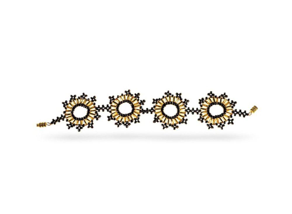 Набор для бисероплетения «Браслет Золото инков»Бисероплетение Кроше<br><br><br>Артикул: А-093<br>Техника вышивки: бисероплетение<br>Тип схемы вышивки: Цветная схема<br>Техника: Бисероплетение