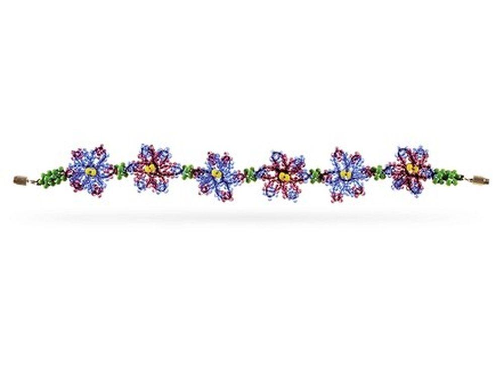 Набор для бисероплетения «Браслет Фиалка»Бисероплетение Кроше<br><br><br>Артикул: А-099<br>Техника вышивки: бисероплетение<br>Тип схемы вышивки: Цветная схема<br>Техника: Бисероплетение