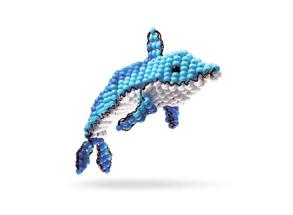 Набор для бисероплетения «Игрушка Дельфин»Бисероплетение Кроше<br><br><br>Артикул: А-112<br>Техника вышивки: бисероплетение<br>Тип схемы вышивки: Цветная схема<br>Техника: Бисероплетение