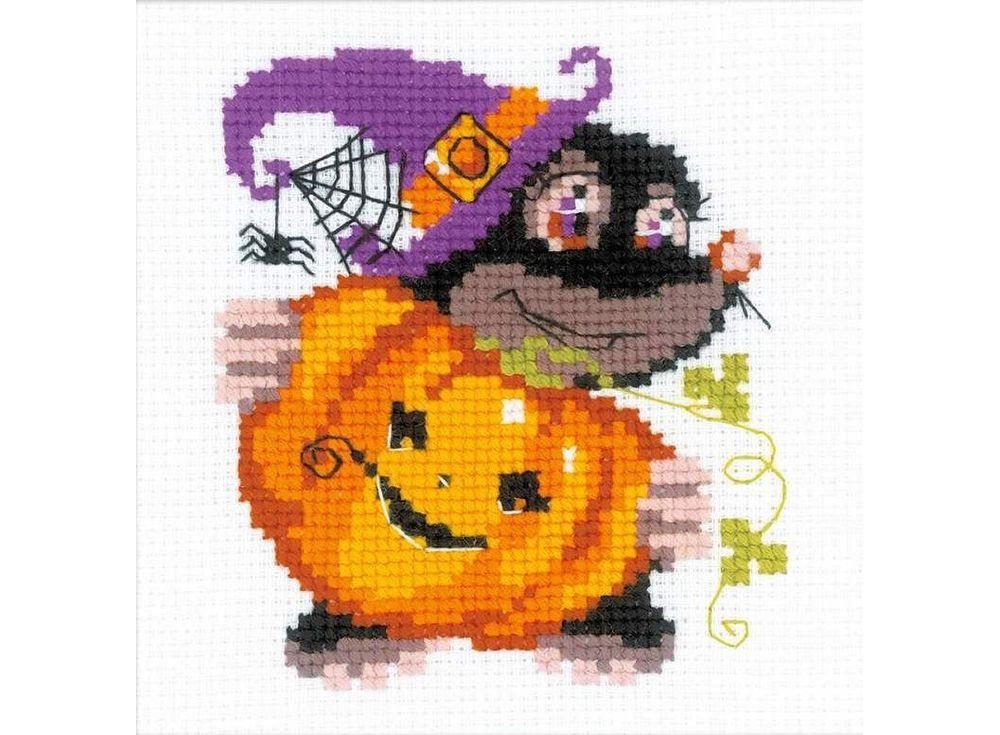 Набор для вышивания «Happy Halloween»Вышивка крестом Риолис<br><br><br>Артикул: НВ173<br>Основа: канва 10 Aida Zweigart<br>Размер: 15x15 см<br>Техника вышивки: счетный крест<br>Серия: Риолис (Веселая пчелка)<br>Тип схемы вышивки: Цветная схема<br>Цвет канвы: Белый<br>Количество цветов: 9<br>Художник, дизайнер: Анна Король<br>Заполнение: Частичное<br>Рисунок на канве: не нанесён<br>Техника: Вышивка крестом<br>Нитки: шерсть/акрил Safil
