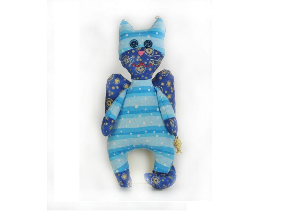 Набор для шитья «Кот-Ангел»Наборы для шитья игрушек<br><br><br>Артикул: ПА-302<br>Основа: Текстиль<br>Сложность: средние<br>Размер: Высота: 22,5 см<br>Серия: Ангелы<br>Техника: Шитье<br>Размер упаковки: 15x23 см<br>Возраст: от 10 лет