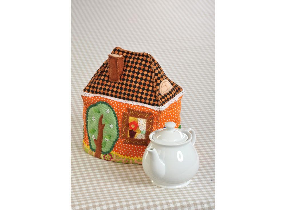 Набор для шитья «Чайный домик-Грелка» (грелка на чайник)Наборы для шитья игрушек<br><br><br>Артикул: ПГЧ-1105<br>Основа: Текстиль<br>Сложность: средние<br>Размер: Высота: 21.5 см, окружность внизу - 58.5 см<br>Серия: Грелки на чайник<br>Техника: Шитье<br>Размер упаковки: 20,7x25,6 см<br>Возраст: от 10 лет