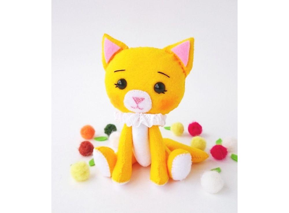 Набор для шитья игрушки «Кошечка»Наборы для шитья игрушек<br><br><br>Артикул: 03-07<br>Основа: Фетр<br>Сложность: средние<br>Размер: Высота: 13 см<br>Техника: Шитье<br>Размер упаковки: 20x16x2 см<br>Возраст: от 8 лет