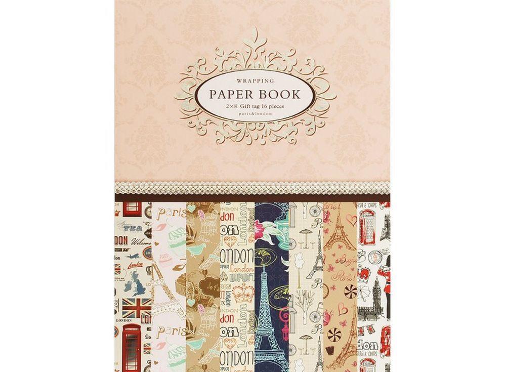 Набор упаковочной бумаги «Французские мечты»Бумага и материалы для скрапбукинга<br><br><br>Артикул: 047-SB<br>Размер: 30x45 см<br>Количество: 16 листов (8 дизайнов по 2 листа)