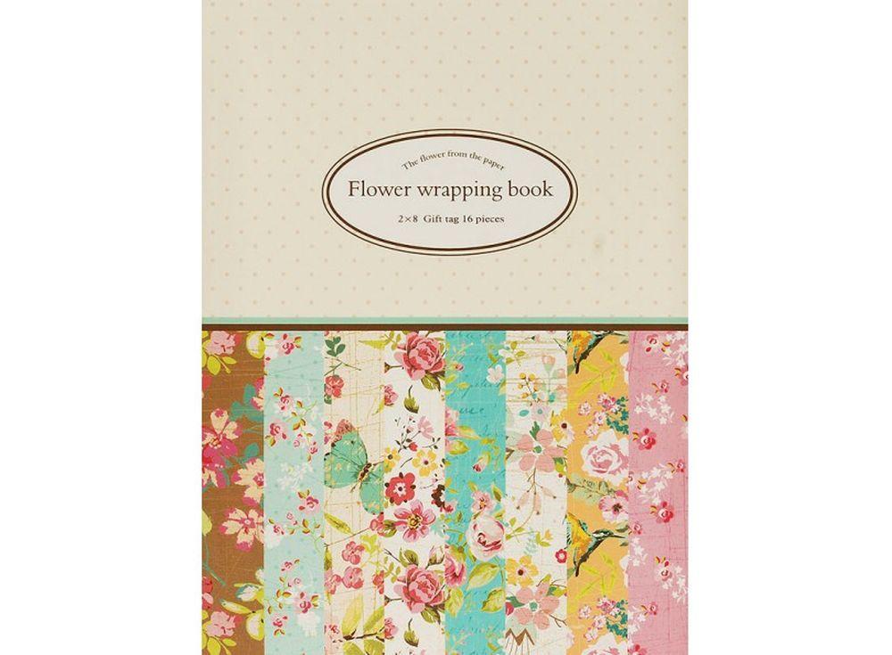 Набор упаковочной бумаги «Цветущие сады»Бумага и материалы для скрапбукинга<br><br><br>Артикул: 048-SB<br>Размер: 30x45 см<br>Количество: 16 листов (8 дизайнов по 2 листа)