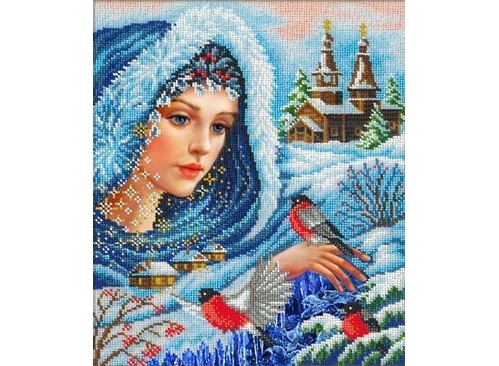 Вышивка бисером Набор вышивки бисером «Волшебница-зима» Русская искусница