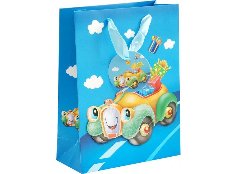 Подарочный пакет «Машинка»Подарочные пакеты<br><br><br>Артикул: 1034-SB<br>Размер: 18x8x24 см