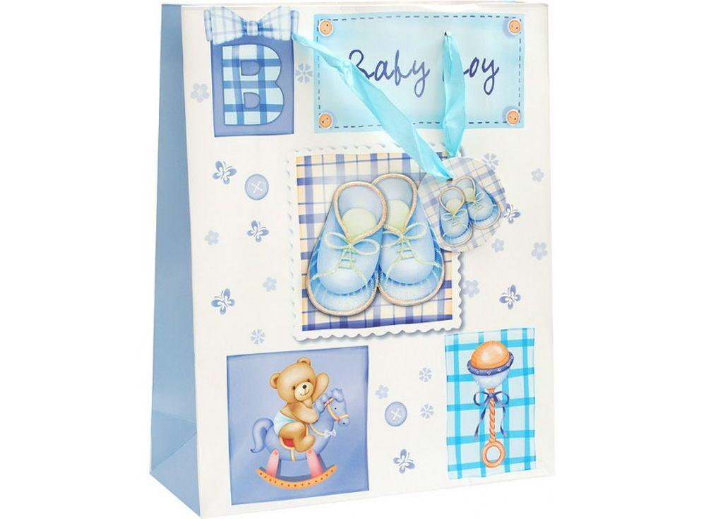 Подарочный пакет «Наш малыш»Подарочные пакеты<br><br><br>Артикул: 1064-SB<br>Размер: 26x32x10 см