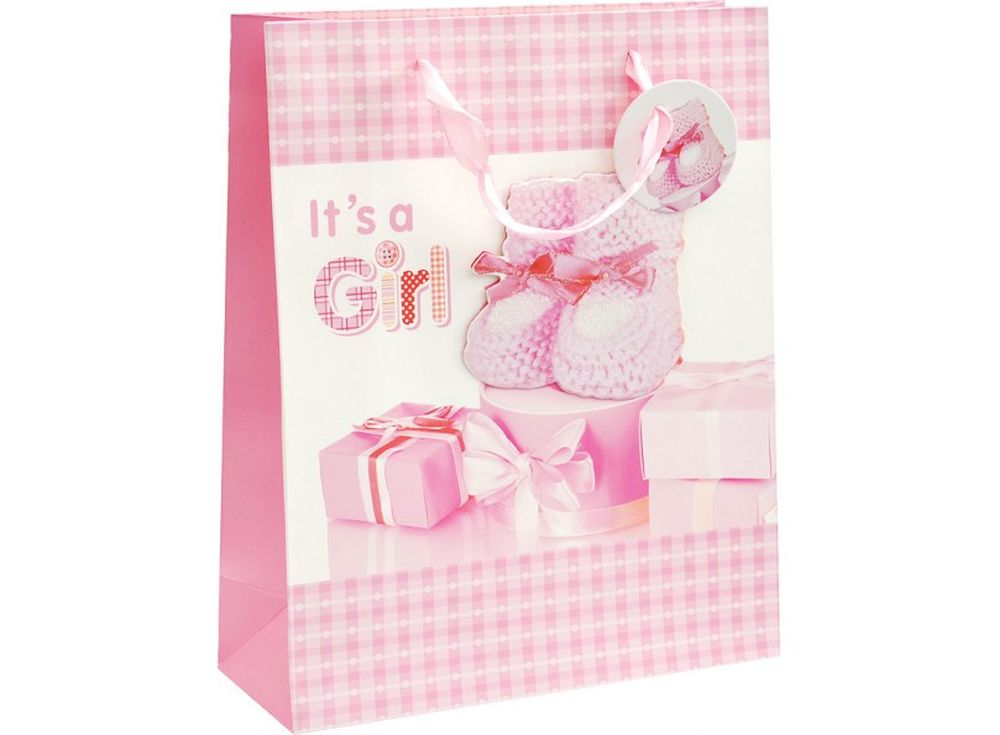 Подарочный пакет «Наша малышка»Подарочные пакеты<br><br><br>Артикул: 1067-SB<br>Размер: 26x32x10 см