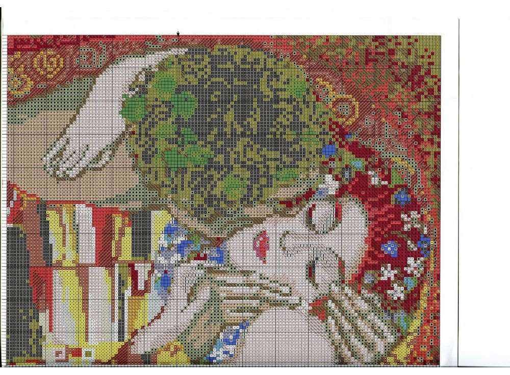 Схема вышивки климт-поцелуй