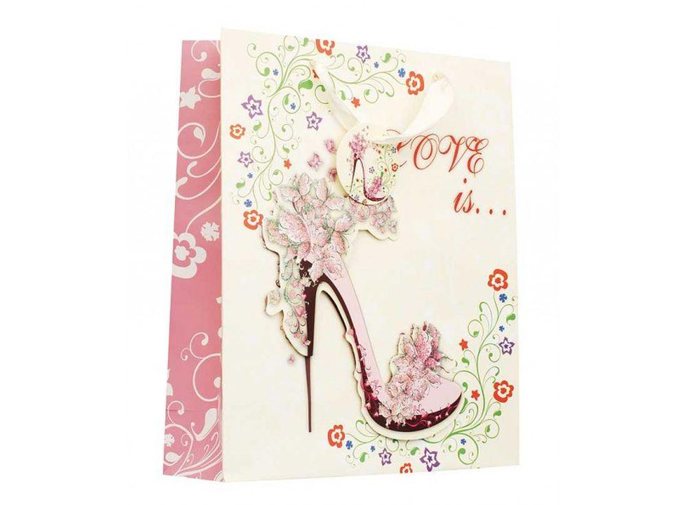 Подарочный пакет «Любовь»Подарочные пакеты<br><br><br>Артикул: 1199-SB<br>Размер: 18x8x24 см