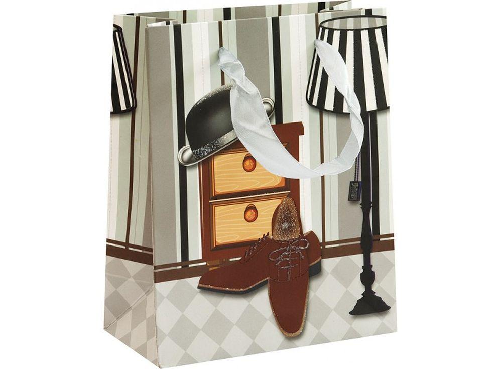 Подарочный пакет «Мужской гардероб»Подарочные пакеты<br><br><br>Артикул: 1285-SB<br>Размер: 14x17x7 см