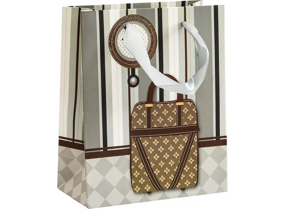 Подарочный пакет «Стильная сумка»Подарочные пакеты<br><br><br>Артикул: 1288-SB<br>Размер: 14x17x7 см