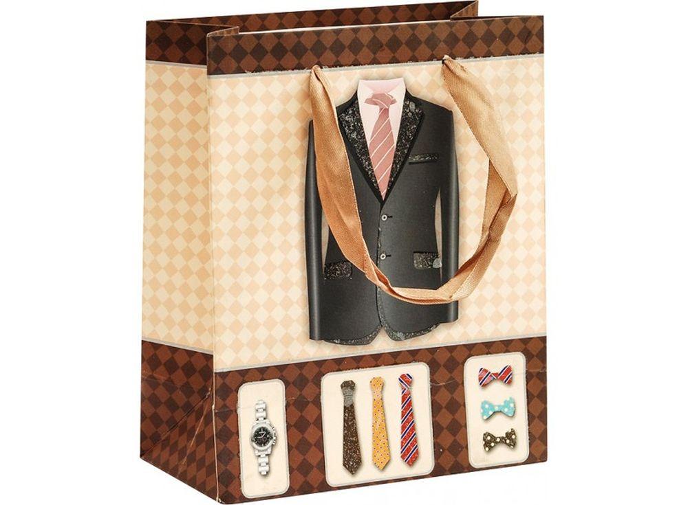 Подарочный пакет «Богатый выбор»Подарочные пакеты<br><br><br>Артикул: 1291-SB<br>Размер: 14x17x7 см