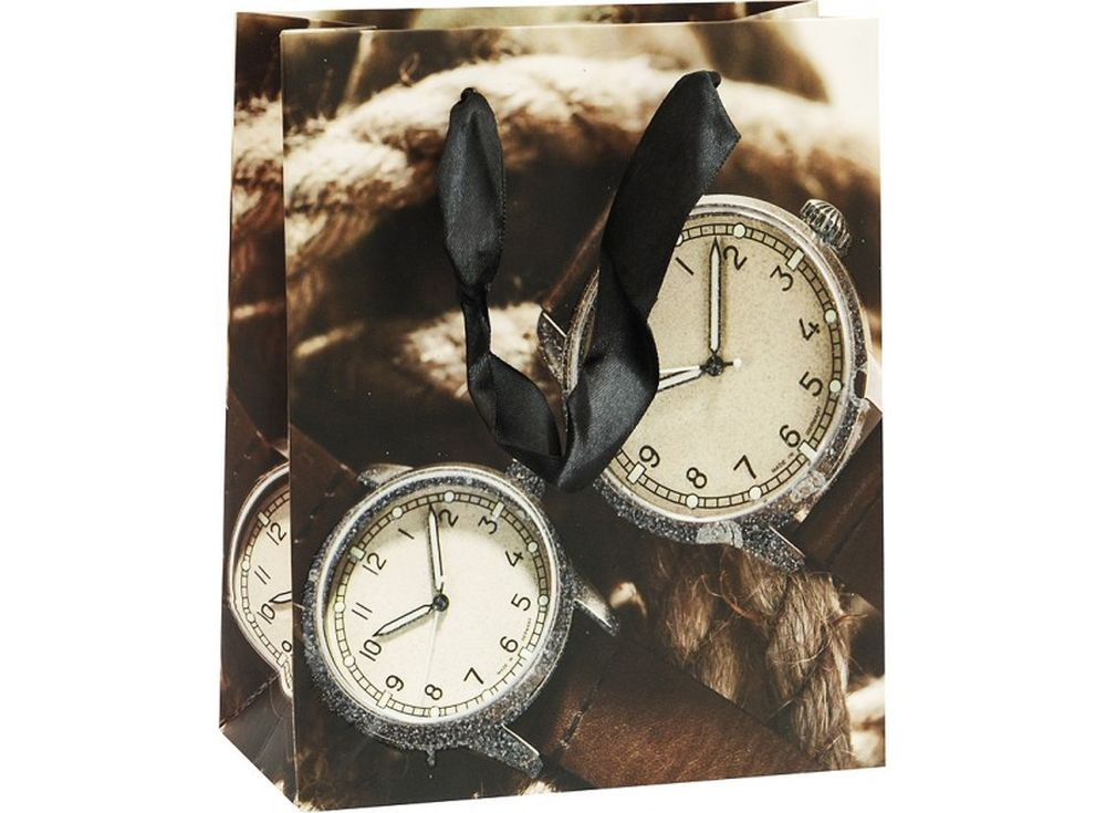 Подарочный пакет «Карманные часы»Подарочные пакеты<br><br><br>Артикул: 1294-SB<br>Размер: 14x17x7 см