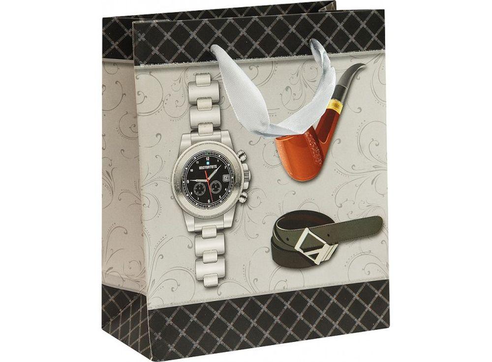 Подарочный пакет «Мужские аксессуары»Подарочные пакеты<br><br><br>Артикул: 1297-SB<br>Размер: 14x17x7 см