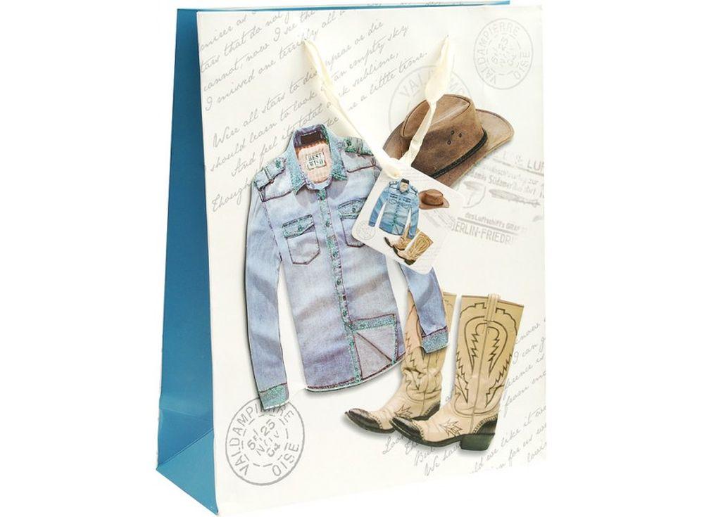 Подарочный пакет «Дикий запад»Подарочные пакеты<br><br><br>Артикул: 1320-SB<br>Размер: 26x32x10 см