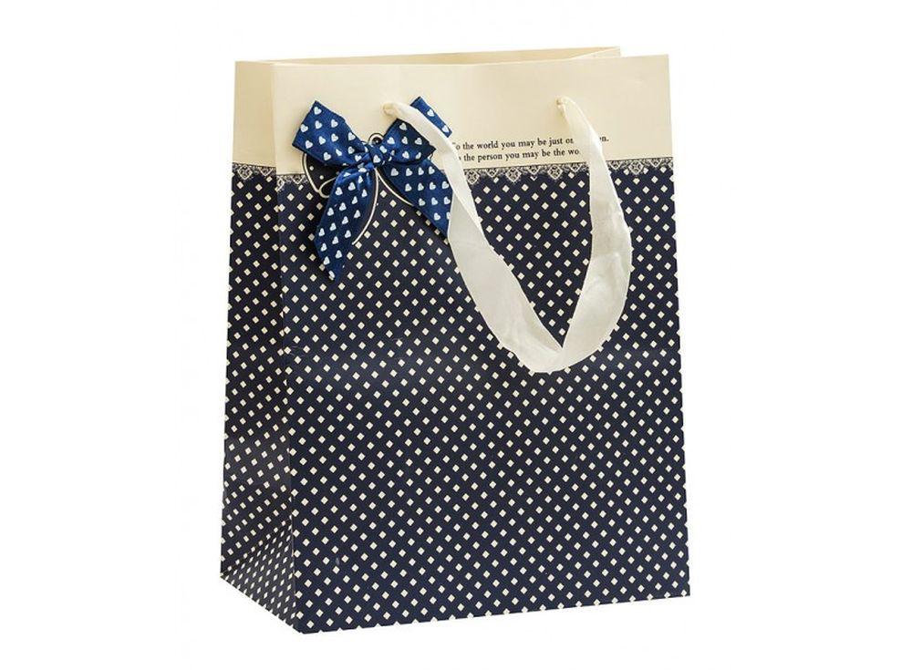 Подарочный пакет «Подарочный синий»Подарочные пакеты<br><br><br>Артикул: 1355S-SB<br>Размер: 18x10x23 см